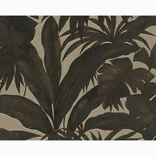 VERSACE GIUNGLA PALM LEAVES WALLPAPER - BLACK GOLD - 96240-1