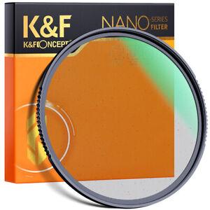 K&F Concept 58mm 1/4 Black Pro Mist Lens Filter Soft Focus Dreamy Hazy Diffuser