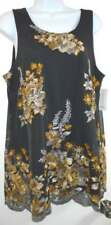NWT CHARTER CLUB Iron Grey Lady's Embroidered Sleeveless Top w/Lining Size M