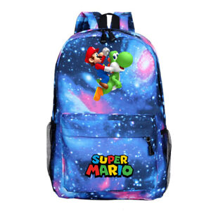 Super Mario Kids Backpack, School Bag for Boys and Teenager, Super Mario Blue
