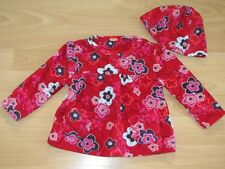 Stunning fleece dress top and hat set. 9-12 months. Excellent condition