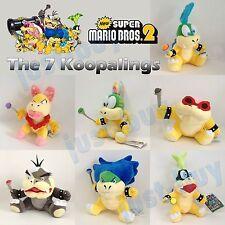 7X New Super Mario Bros. 2 Koopalings Koopa Plush Soft Toy Stuffed Animal Teddy