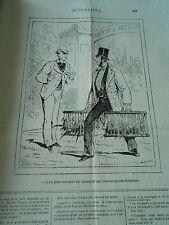 Caricature 1877 - Lapins Faisans c'es pour repleupler les chasses