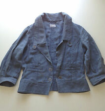 Blue Slouchy Jacket from TOPSHOPs MOTO range 100% linen