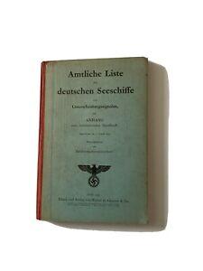 Amtliche Liste der Deutschen Seeschiffe mit Unterscheidungssignalen 1939