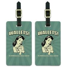 Wallets Other Bulge Woman Looks For Luggage ID Tags Cards Set of 2