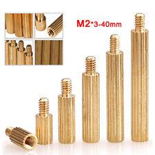 M2 / 2mm Brass Round Female To Male Pillar PCB Threaded Standoff Spacers Screws