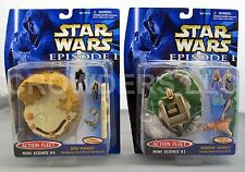 Star wars Episode 1 Action Fleet Mini Scense #3 Gungan Assault & #4 Sith Pursuit