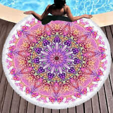 Watercolor BOHO Mandala Flower Bath Swim Beach Towel Yoga Blanket Christmas Gift