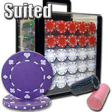 New 1000 Suited 11.5g Clay Poker Chips Set with Acrylic Case - Pick Chips!