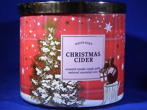 """Bath & Body Works """"CHRISTMAS CIDER"""" 3 Wick Candle Brand New"""