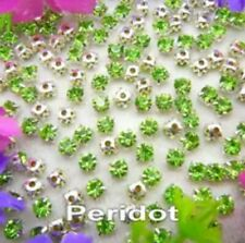 5mm Sew On Crystal Rhinestones 140pcs SS24 Peridot Light Green Birthstone August