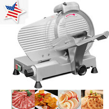 New ListingSale 10' Blade Semi-automatic Meat Slicer Cutting Meat Machine 110V