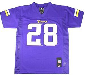 NWOT Minnesota Vikings Adrian Peterson Girls Jersey (L) Large Purple
