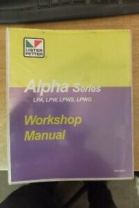 lister petter alpha series LPA LPW LPWS & LPWG marine engines workshop manual
