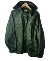 Mens Vintage Speedo Water Resistant Coat Jacket Large Rip Stop Vented Green 90s