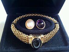 VINTAGE ELIZABETH TAYLOR WHITE DIAMONDS GOLD BRACELET IN ORIGINAL BOX