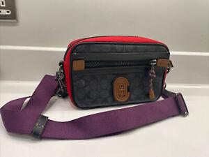 Coach Mens Cross Body Bag - Multi Coloured - Adjustable Strap RRP £285.00