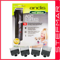 Andis Dog Clippers AGC2 ProClip 2 Speed with #10 Blade + 4 Guide Combs AU240V