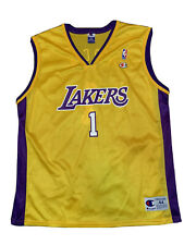 Authentic Vintage Nba Champion Jersey Size 44 Lakers #1 Custom Jersey Rare 🔥