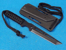 "SLICK SNIPER I 210992 Black Tanto fixed blade Belt, Boot, Neck knife 8"" overall"