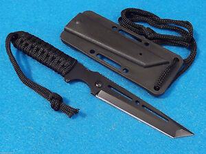 "SLICK SNIPER I 210992 Black Tanto fixed blade Belt, Boot, Neck knife 8"" overall"
