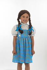 Halloween Dorothy Gale Wig Wizard of Oz Girl Brown Braided Cosplay H0398