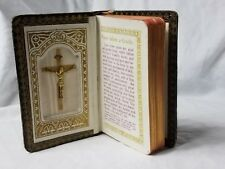 Vintage Black  Communion Prayer Book  Crucifix inside, beautiful