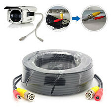 33ft 10m BNC Video DC Power Cable Wire Cord CCTV Security Camera System DVR US