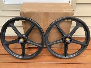 NEW BMX Skyway Black Gold Graphite (CF) Tuff Wheel II 20'' Wheel-set NEW