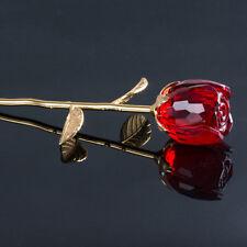 Sweet Crystal Rose Flower Floral Home Decor Wedding Craft Valentine's Day Gift