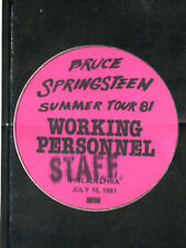 Bruce Springsteen - BS pass working personnel staff July 15,1981 - Philly - pink