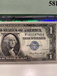 $1.00 1935  FR.1607  [MA] BLOCK SILVER CERTIFICATE  PCGS AU58PPQ SUPER TOP RARE!