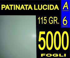5000 FF A6 CARTA PATINATA LUCIDA STAMPANTI LASER VOLANTINI 115 GR