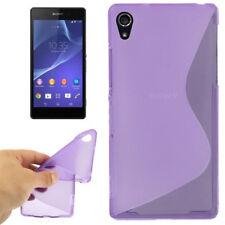 TPU Case Wave Schutzhülle in lila für Sony Xperia Z2 Handyhülle Schutzcase