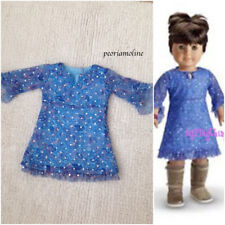 AMERICAN GIRL PAISLEY DRESS/ 1 PC~Outfit Blue Sparkly~2003 Retired~