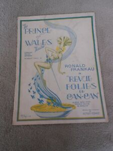VINTAGE 1938 PROGRAMME FOLIES DE CAN-CAN AT NEWLY BUILT PRINCE OF WALES THEATRE