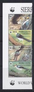 SIERRA LEONE 1994 BIRD STAMPS BIRDS WWF LEFT STRIP  MNH - BIRDL232