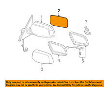 Bmw Oem 06-09 M5 Door Rear Side View-Mirror Glass Right 51167168182