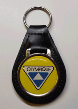 Reproduction Vintage Sk Doo Olympique Snowmobile Logo Medallion Leather Keychain