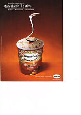 PUBLICITE ADVERTISING  2002   HAAGEN-DAZS   glace Marrackech festival
