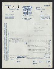 """TONNEINS (47) USINE de CONFISERIES ,CONFITURES, FRUITS CONFITS """"FRUCTIDOR"""" 1953"""