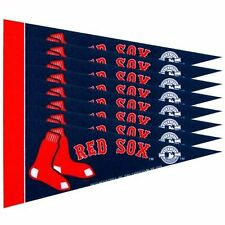 "Boston Red Sox 4"" x 9"" Mini Pennant Banner Flag Fan Cave Decor 8 Pack Set MLB"