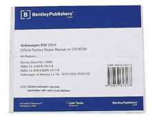 Volkswagen VW Golf R32 2004 CD-ROM OE Authorized Service Repair Manual Bentley