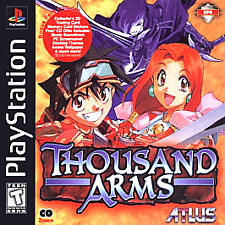 THOUSAND ARMS PS1 PLAYSTATION 1 DISC ONLY