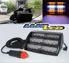 UNIVERSAL EMERGENCY SECURITY 12V 18 AMBER/WHITE LED STROBE WARNING TOW LIGHT