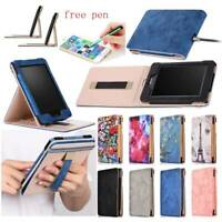 For Amazon Kindle Paperwhite 1 2 3 4 E-reader PU Leather Smart Folio Case Cover