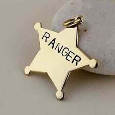 Sheriff Star Big Dog Tag ID, Sheriff Star Badge Pet ID tag, Star Dog Tag