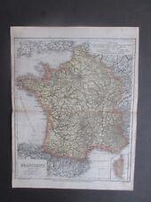 OLD MAP MEYERS LITOGRAFIA FRANKREICH  ROK 1867