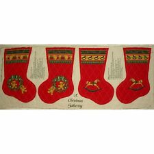 Wamsutta 'A Christmas Gathering' Quilted Fabric Panel Two Holiday Stockings